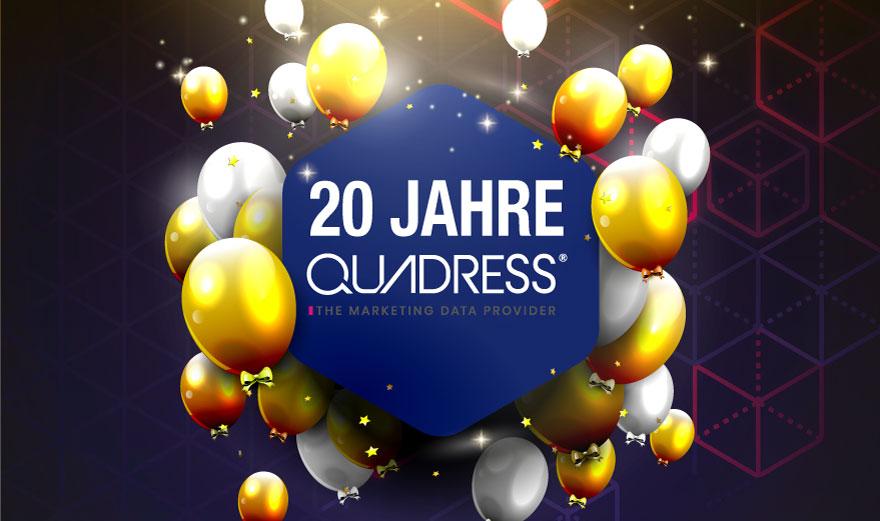 20 Jahre Quadress Jubiläum